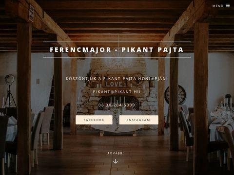 Esküvői szolgáltató: Ferencmajor – Pikant Pajta