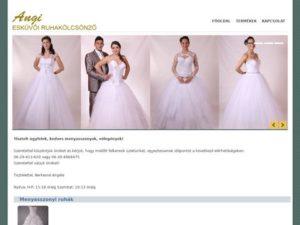 Esküvői szolgáltató: Angi Esküvői Ruhakölcsönző
