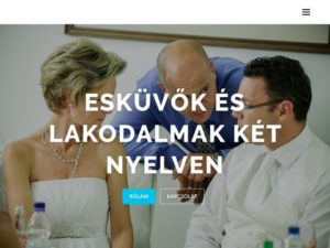 Esküvői szolgáltató: Farkas László Angol-Magyar nyelvű Vőfély