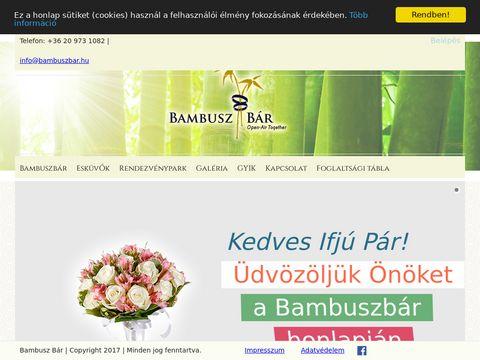 Esküvői szolgáltató: Bambusz Bár