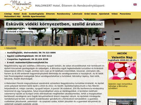 Esküvői szolgáltató: Malomkert Panzió