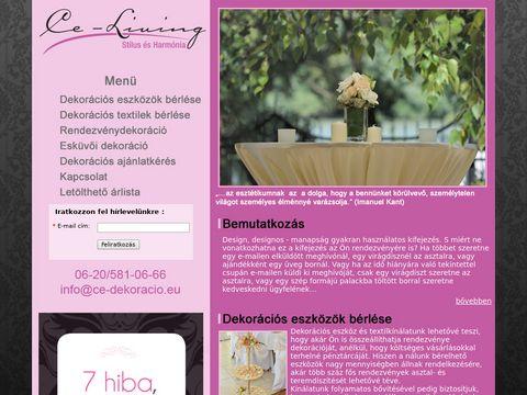 Esküvői szolgáltató: CE Living Esküvői Dekoráció