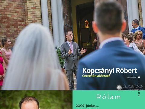 Esküvői szolgáltató: Kopcsányi Róbert Cmester