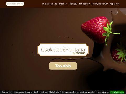 Esküvői szolgáltató: Csokoládé Fontana Csokiszökőkút