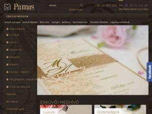 Esküvői szolgáltató: Pamas Esküvői Meghívók