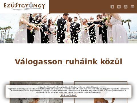 Esküvői szolgáltató: Ezüstgyöngy Esküvői Ruhaszalon