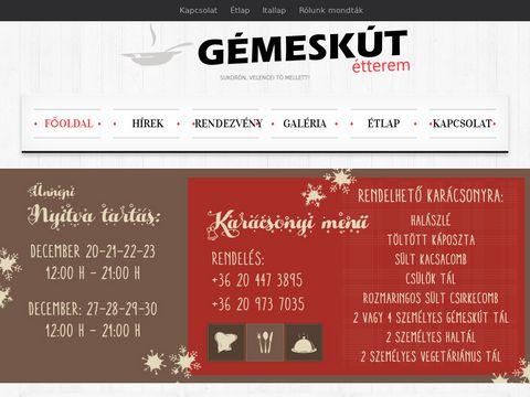 Esküvői szolgáltató: Gémeskút Étterem