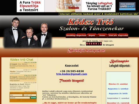 Esküvői szolgáltató: Kódex Trió Szalon- és Tánczenekar