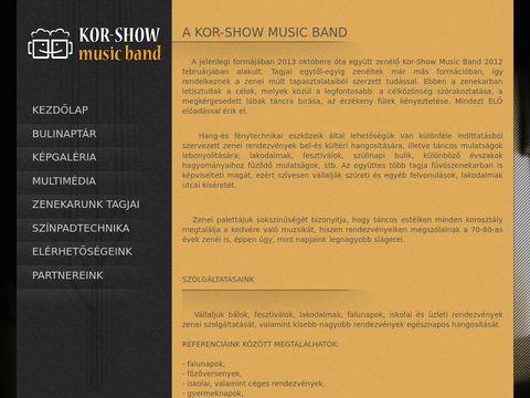 Esküvői szolgáltató: Kor-Show Music Band