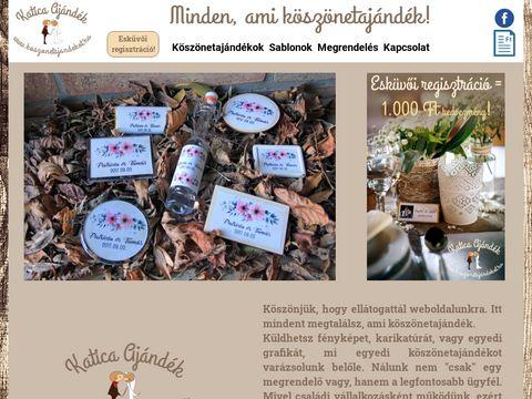 Esküvői szolgáltató: Katica Ajándék