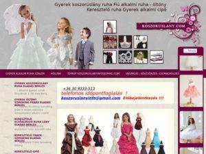 Esküvői szolgáltató: Gyermek koszorúslány ruha
