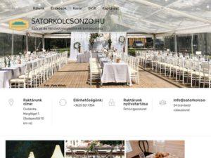 Esküvői szolgáltató: Sátorkölcsönző.hu