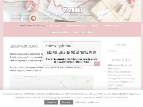 Esküvői szolgáltató: Székszoknya.net