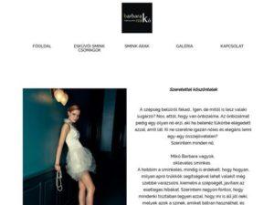 Esküvői szolgáltató: Esküvői smink – Mikó Barbara