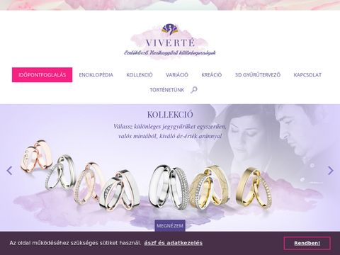 Esküvői szolgáltató: VIVERTÉ Emlékőrző Karikagyűrű-különlegességek