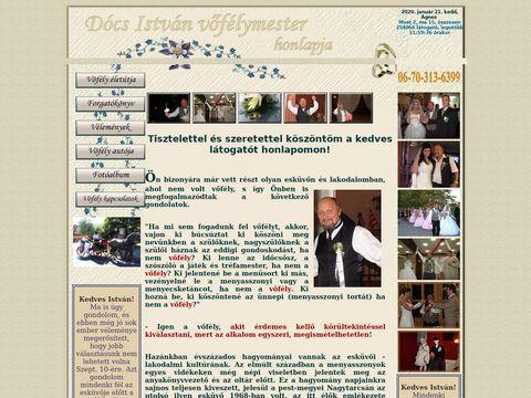 Esküvői szolgáltató: Dócs István Vőfélymester