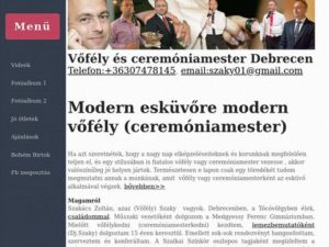 Esküvői szolgáltató: Szakács Zoltán Vőfély