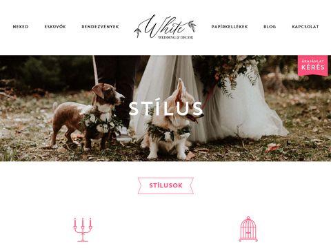 Esküvői szolgáltató: White Wedding Decor