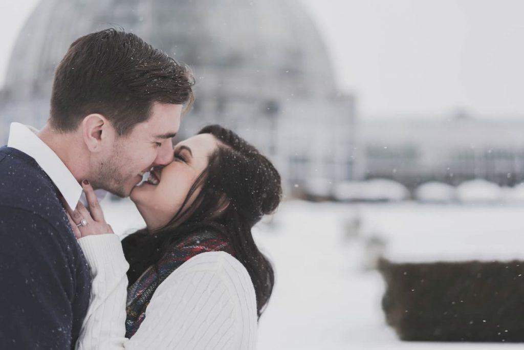 téli esküvői fotó