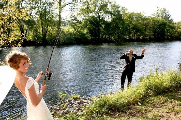 horgász esküvő