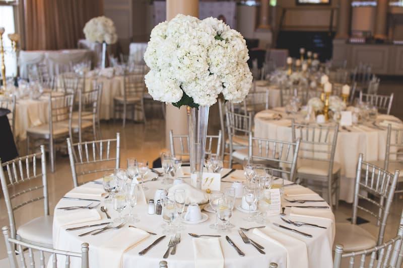 klasszikus elegáns esküvői dekor
