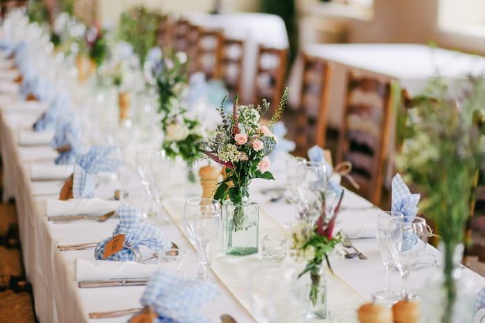 esküvői dekor asztaldísz